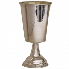 Silver Kiddush Cup on stem