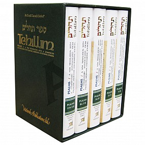 Tehillim/Psalms - 5 Vol Personal Size Set
