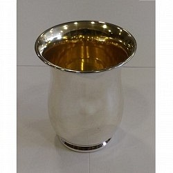 Rounded Kiddush Cup - Sterling Silver