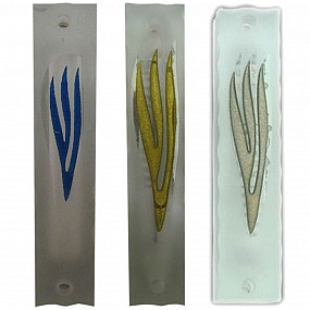Glass Mezuzah Case - with coloured