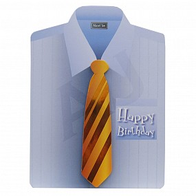 Shirt Shaped Happy Birthday Card