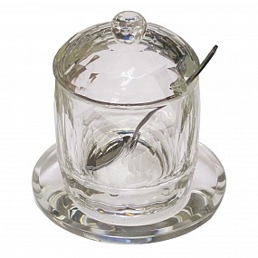 Crystal Honey Pot Set