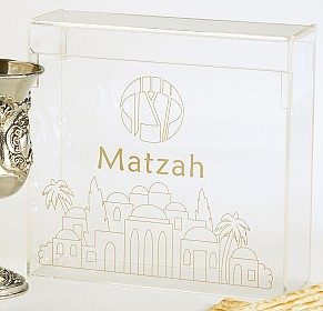 Acrylic Flip top Matzah Box