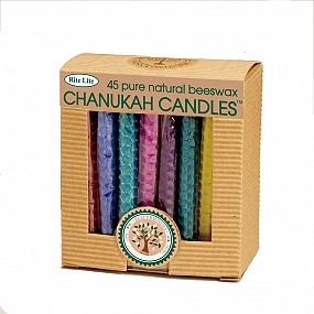 Coloured Chanuka Candles - Beeswax