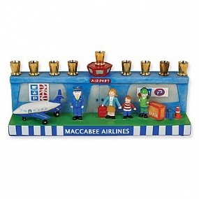 Airplane Hanukah Menorah