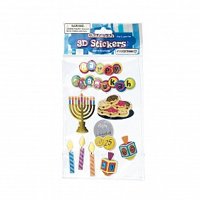 Chanuka 3D Stickers
