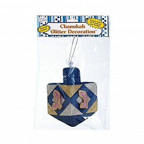 Chanuka Glitter Dreidel Decoration