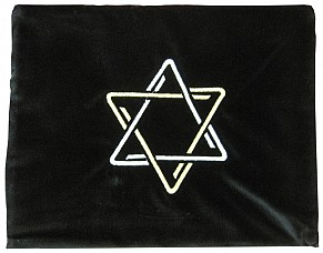 Black Velvet Tallit Bag - Silver/Gold