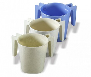 Plastic Elegant Shaped Washing Cup - Assorted Colours