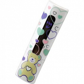 Hearts & Bear Mezuzah Case