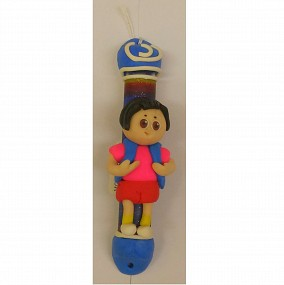 Clay Mezuzah Case - Girl