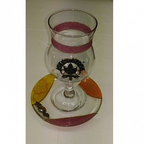 Glass Elijah Cup - coloured