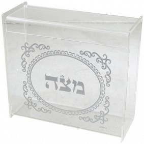 Acrylic Matzah Box with Design