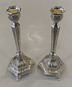 Traditional Nickel Candlesticks