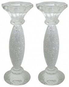 Glass with stones candlesticks