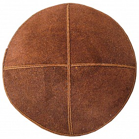 Brown Suede Kippah