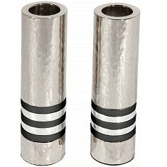 Cylinder Candlesticks - Black Rings