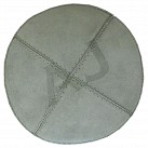 Light Grey Suede Kippah