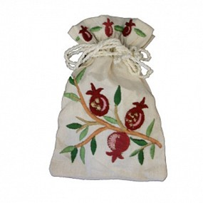 Havdalah spices in embroidered bag