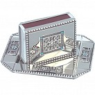 Match Box Cover with tray - Blue Stones