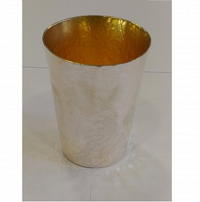 Sterling Silver - Hammered Kiddush Cup