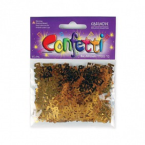 Bar Mitzvah Confetti - Gold