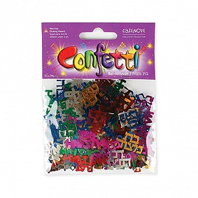 Bat Mitzvah Confetti - Multi Coloured