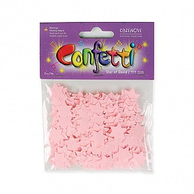 Star of David Confetti - Baby Pink