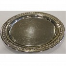 Round Silver Plated Tray 20cm