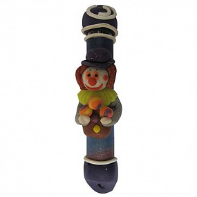 Mezuzah Case Clay - Clown