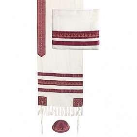 Emanuel Tallit Set - Stripes Fuchsia