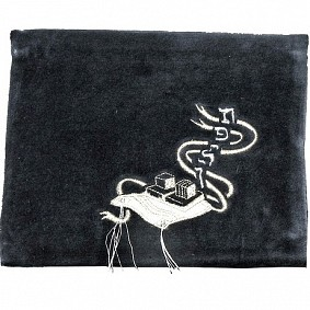 Navy Tefillin Bag - Silver Design
