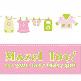 Mazel Tov! on your new baby girl
