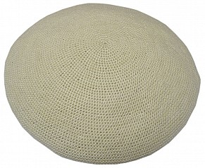 Knitted Kippah - Cream