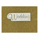 On Your Wedding Mazel Tov (Gold Glitter)