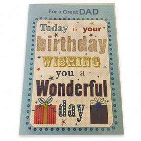 For a Great Dad - Birthday Card