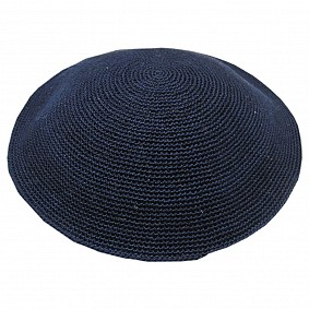 Knitted Kippah - Navy