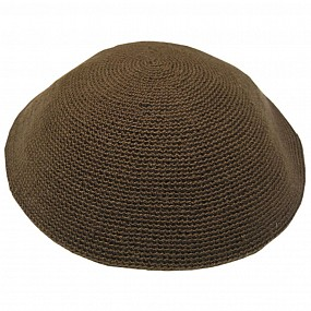Knitted Kippah - Brown