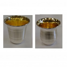 Sterling Silver Kiddush Cup - Lines