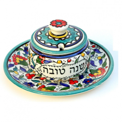 Armenian Honey Pot Set - Teal