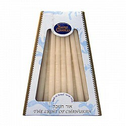 Hand Made Chanukah Candles - White