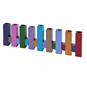 Emanuel Menorah - Standing squares Multi-coloured