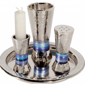 Emanuel Havdalah Set - Blue Rings