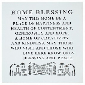Laser cut English home blessing