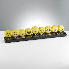 Emoji Hand Painted Ceramic Menorah