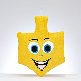Dreidel Emoji Embroidered Plush