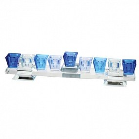 Crystal blue Menorah