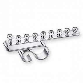 A. Binstead silver plated wave menorah