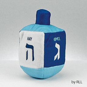 Plush Dreidel - Blue and white