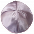 Light Purple Kippah with four sections and pale pink trim